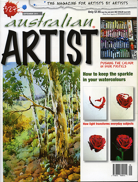 Australian Artist cover Sept 2011 reduced 8th march 2014